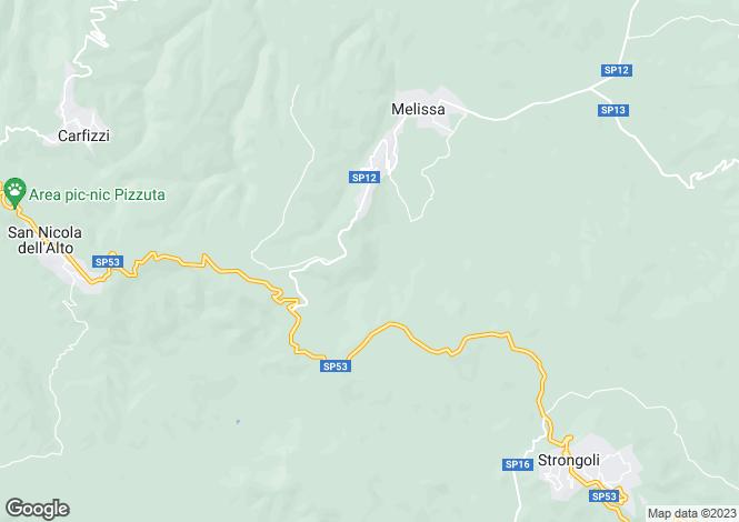 Map for Calabria, Crotone, Melissa