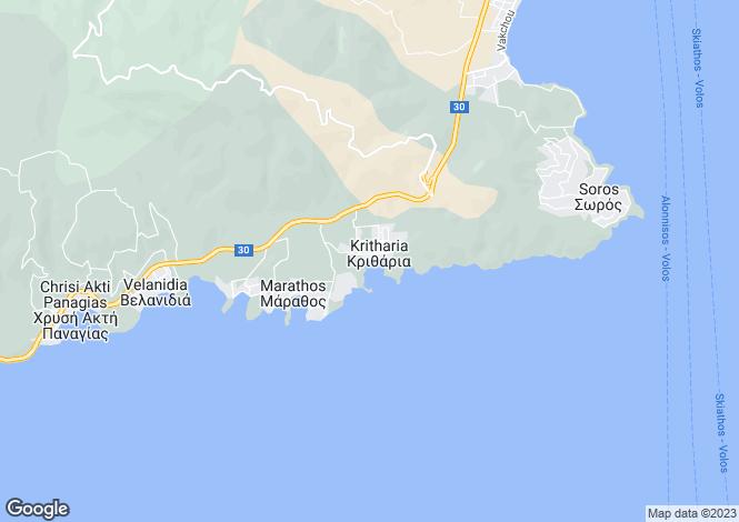 Map for Panagias Golden Beach, Magnesia, Greece