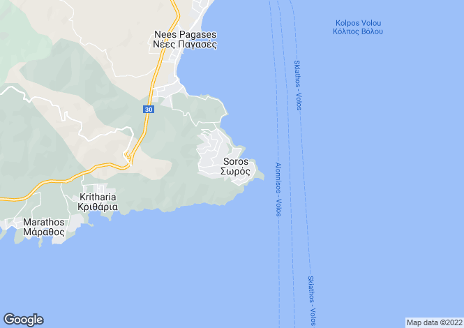 Map for Nees Pagasses, Volos, Greece