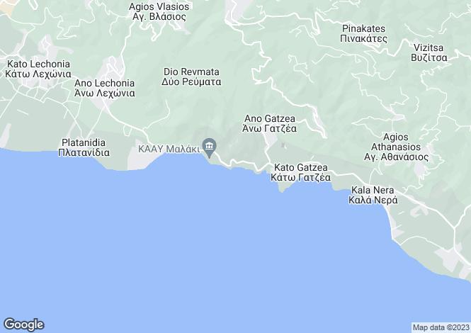 Map for Kato Gatzea, Pilio, Greece