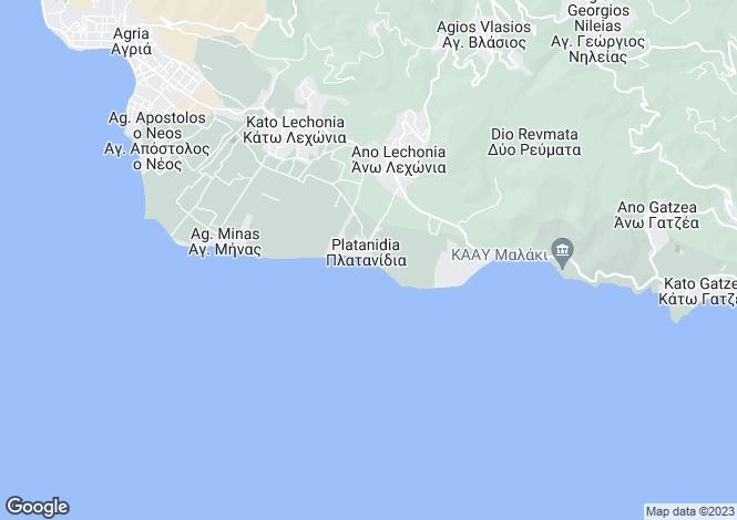 Map for Platanidia, Artemida, Greece