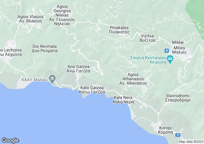 Map for Agia Triada, Magnesia, Greece