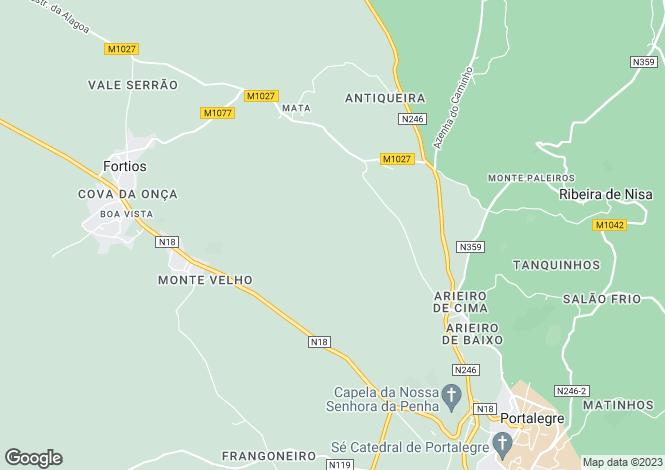 Map for Portugal,Portalegre,Fortios