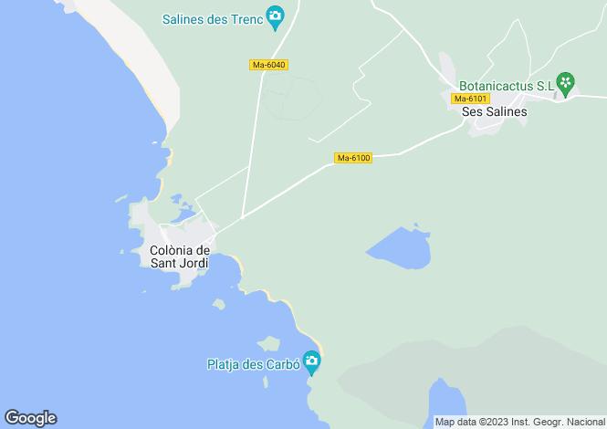 Map for Balearic Islands, Mallorca, Colònia de Sant Jordi