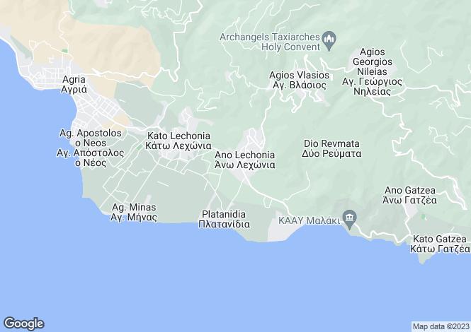 Map for Ano Lechonia, Artemida, Greece