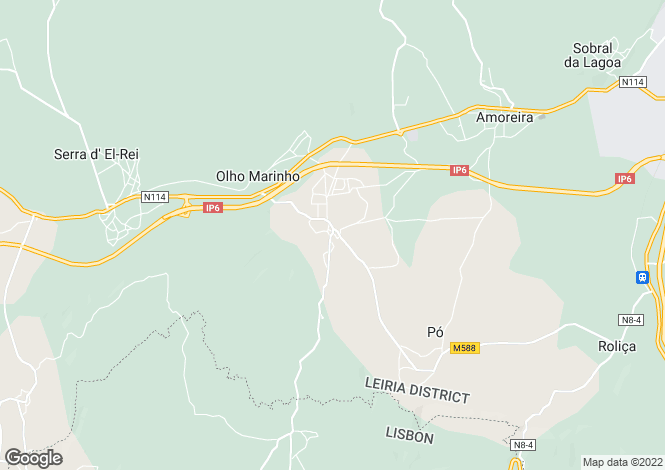 Map for Olho Marinho, Óbidos, Leiria