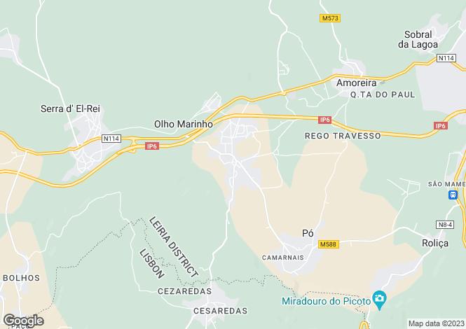 Map for Leiria, Olho Marinho
