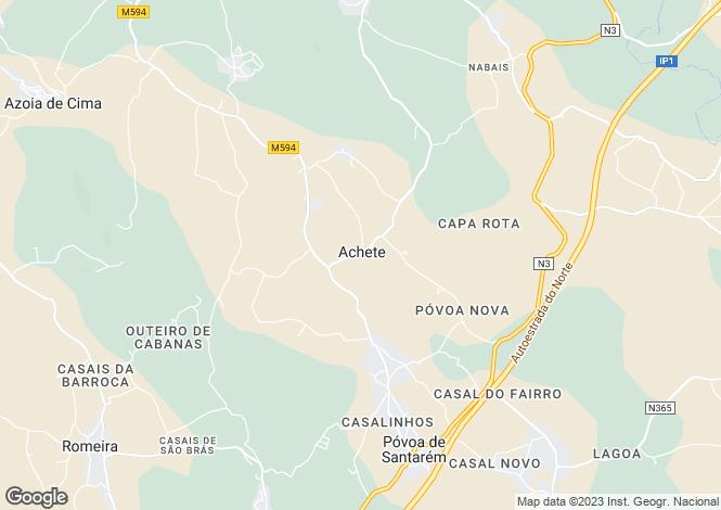 Map for Ribatejo, Santarém