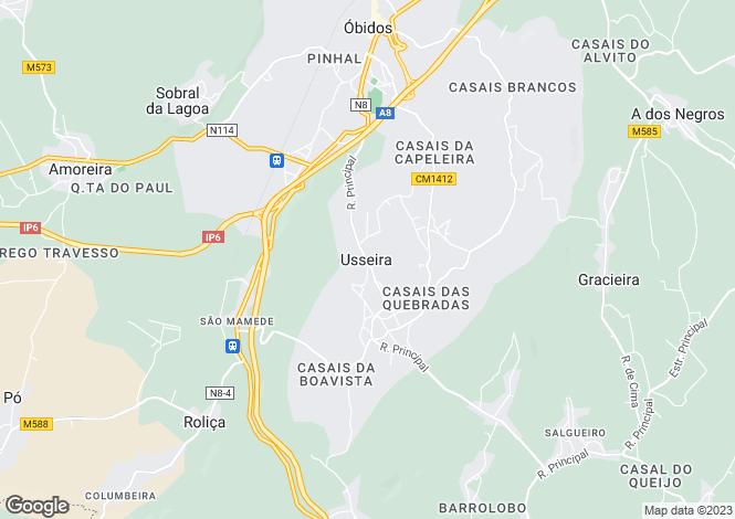 Map for Leiria, Usseira
