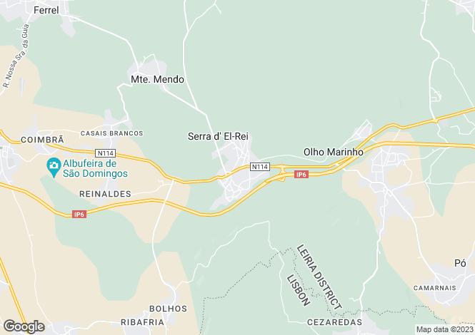 Map for Serra D'El Rei, Peniche, Leiria