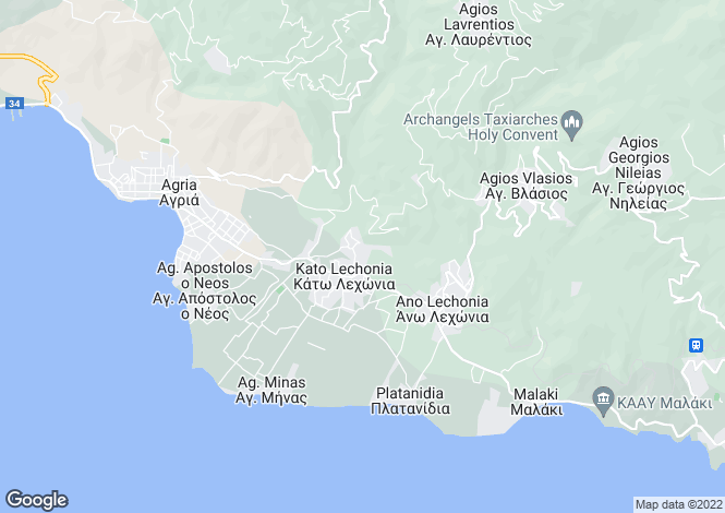 Map for Kato Lexonia, Artemida, Greece