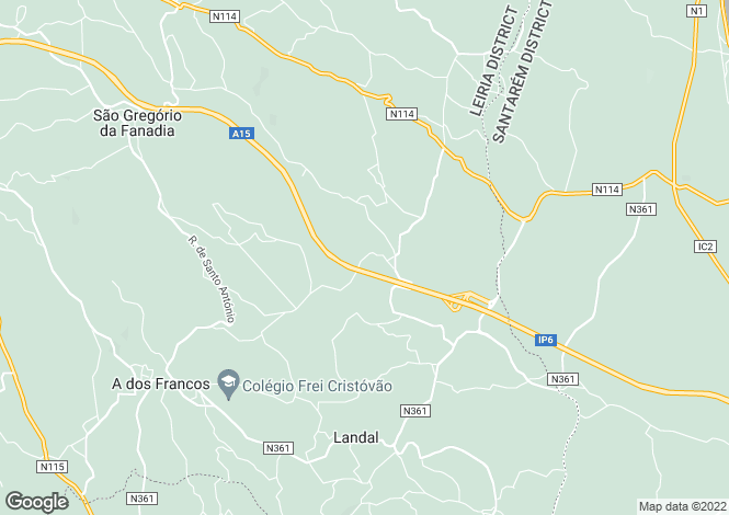 Map for Leiria, Caldas da Rainha