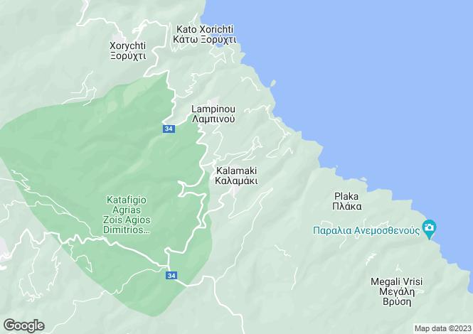 Map for Kalamaki, Pilio, Greece