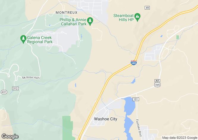 Map for Nevada, Washoe County, Reno