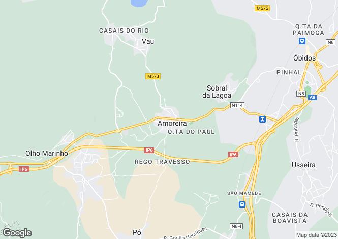 Map for Portugal,Leiria,Óbidos