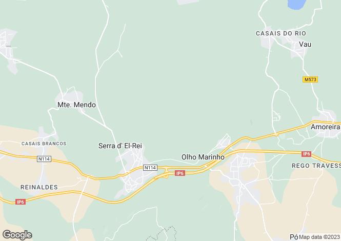 Map for Portugal,Leiria,Serra d`El-Rei