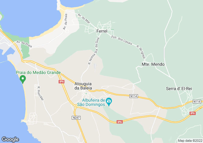 Map for Portugal,Leiria,Atouguia da Baleia