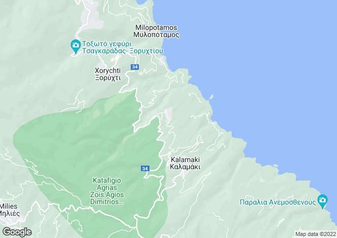 Map for Lampinou, Pilio, Greece
