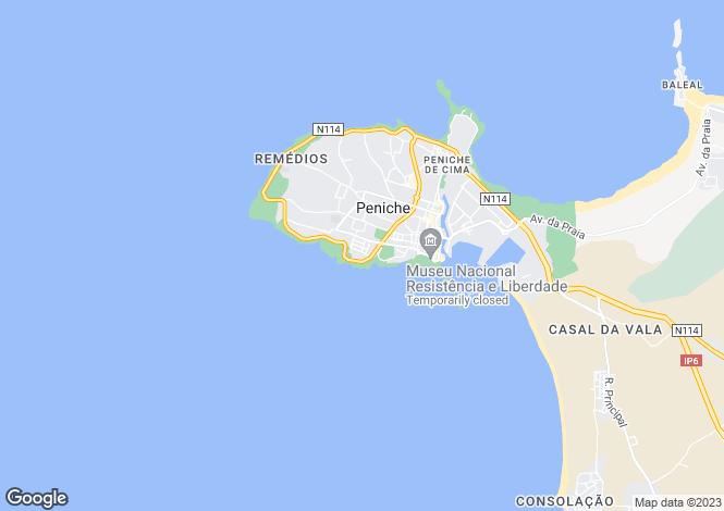 Map for Estremadura, Peniche