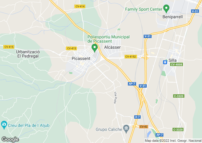Map for Valencia, Valencia, Picassent