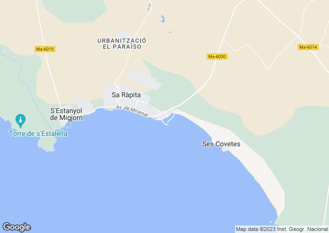 Map for Sa Ràpita, Mallorca, Balearic Islands