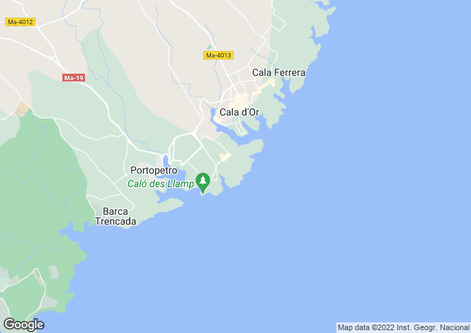 Map for Balearic Islands, Mallorca, Cala d`Or