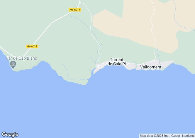 Map for Balearic Islands, Mallorca, Llucmajor