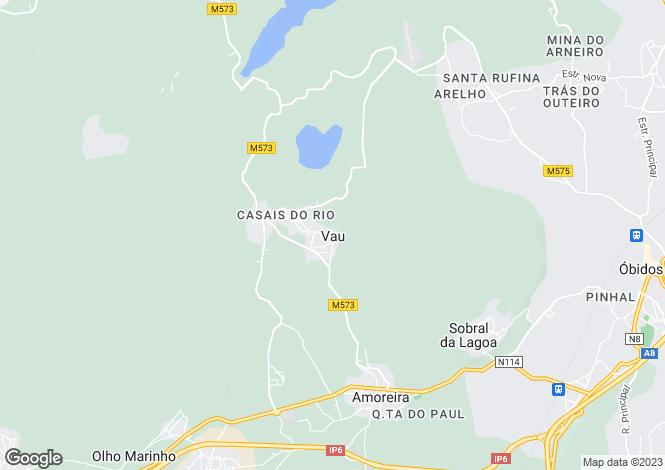 Map for Vau, Óbidos, Leiria