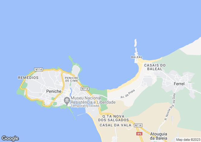Map for Leiria, Peniche