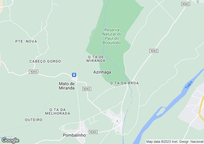 Map for Azinhaga, Golegã, Santarém