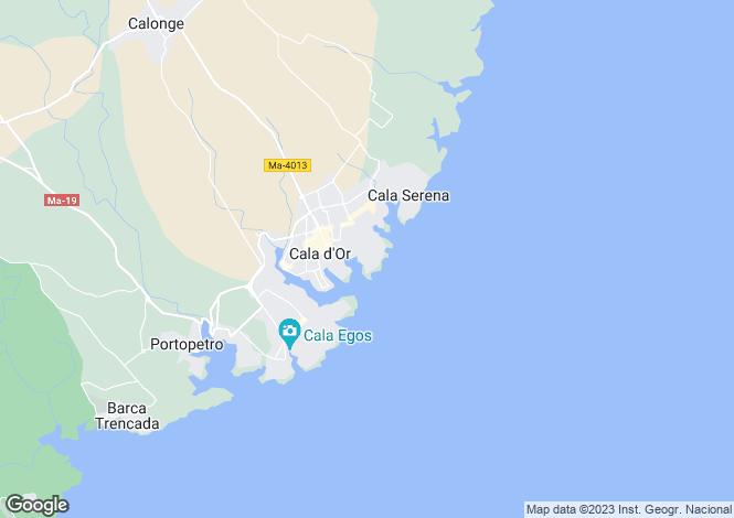 Map for Cala d`Or, Mallorca, Balearic Islands