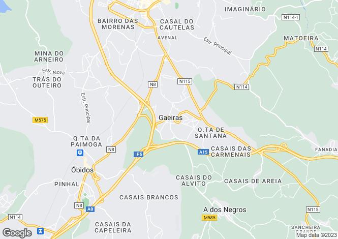 Map for Leiria, Gaeiras