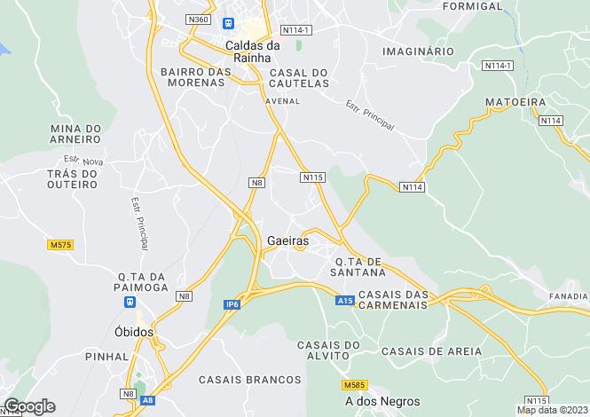 Map for Portugal,Leiria,Gaeiras