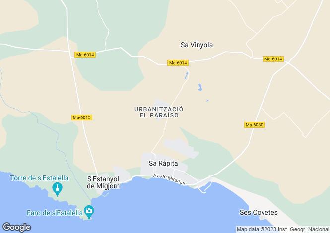 Map for Sa Rapita, Spain