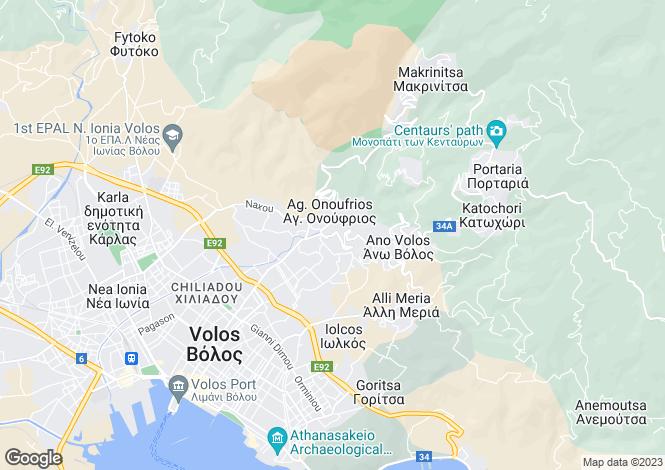 Map for Ag. Georgios, Volos, Greece