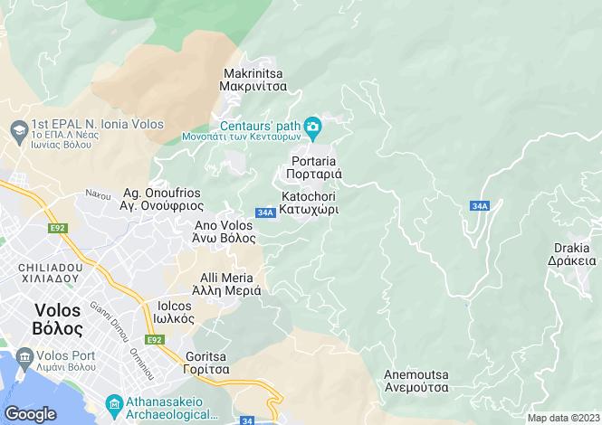 Map for Katochori, Portaria, Greece