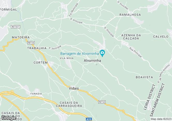 Map for Portugal,Leiria,Vidais