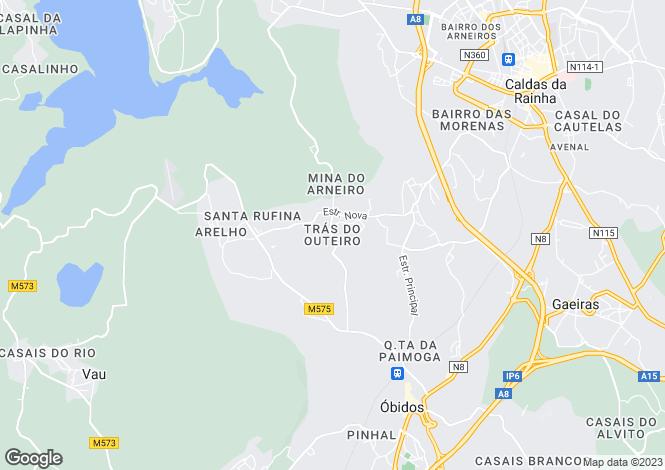 Map for Leiria, Óbidos