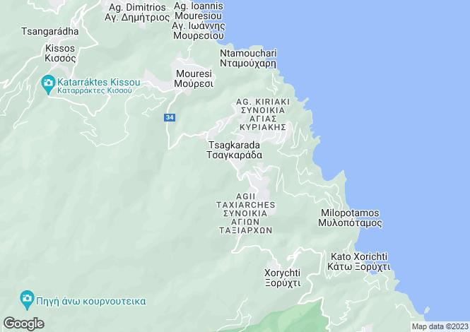 Map for Tsagarada, Pilio, Greece