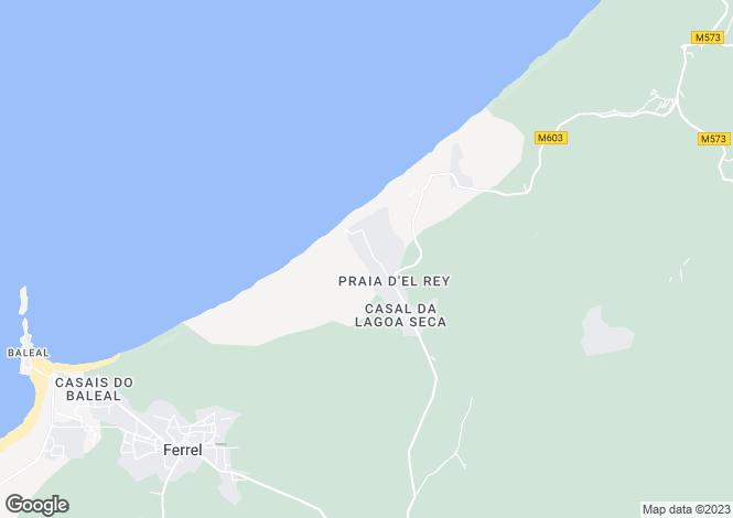 Map for Estremadura, Praia del Rey