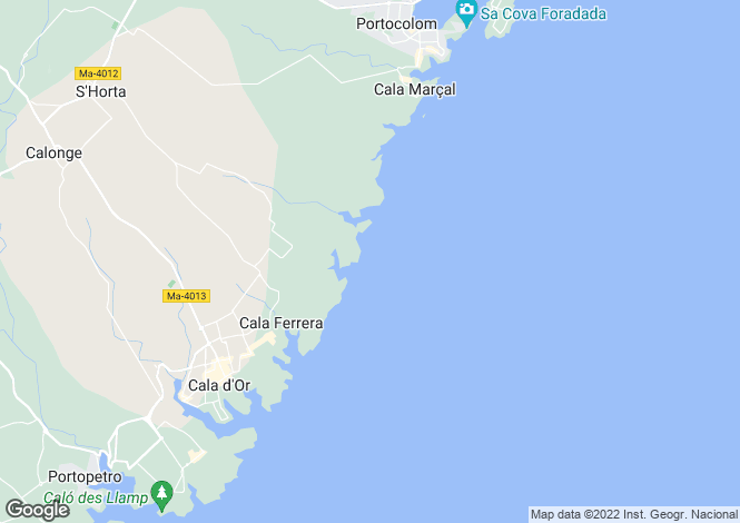 Map for Cala d`Or, Mallorca, Balearic Islands