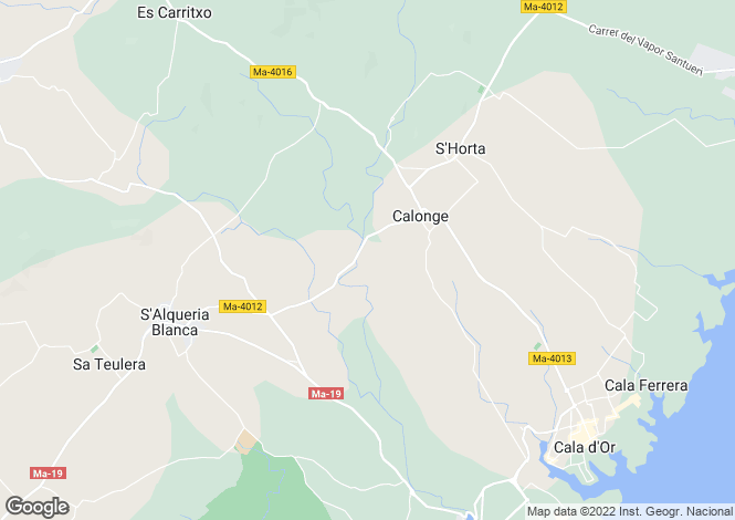 Map for Santanyi, Spain