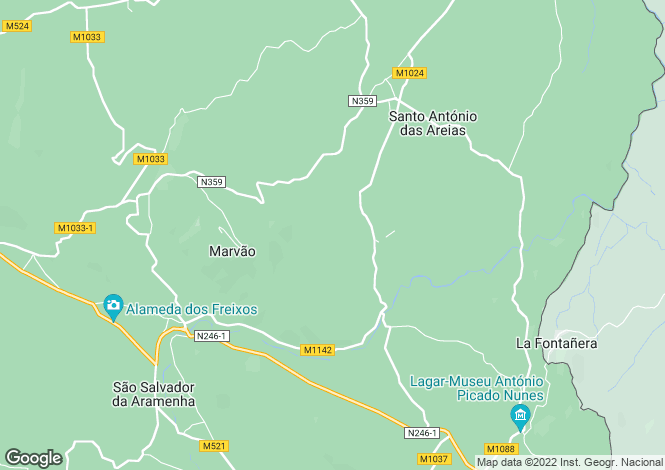 Map for Marvão, Santo António das Areias,