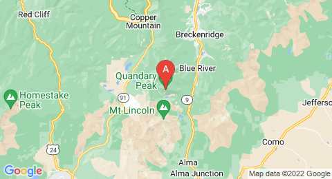 map of Quandary Peak (United States of America)