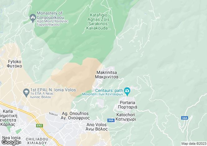 Map for Settlement Makrinitsa, Makrinitsa, Greece