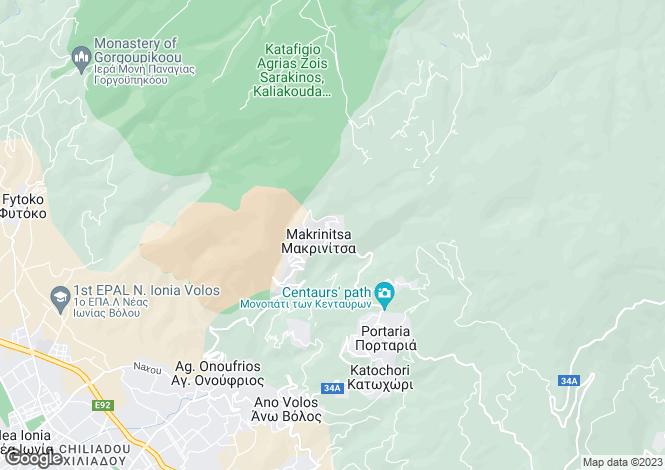 Map for K. Makrinitsas, Magnesia, Greece