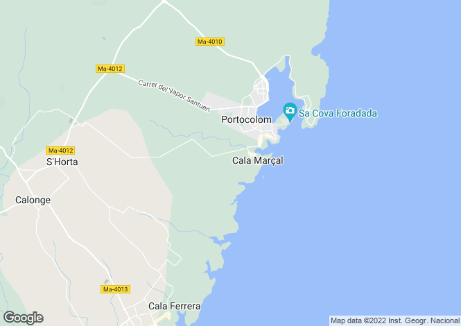 Map for Portocolom, Spain