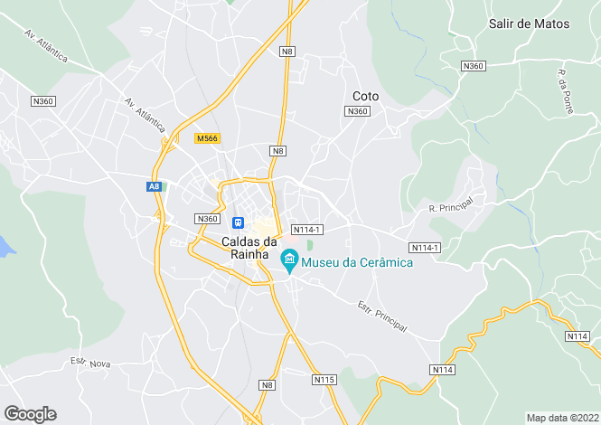 Map for Portugal,Leiria,Caldas da Rainha
