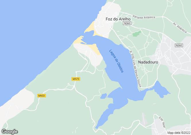 Map for Óbidos, Estremadura