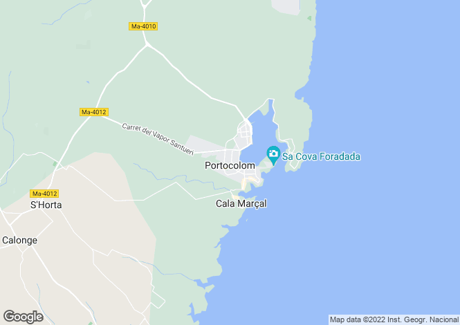 Map for Luxury Properties Project, Portocolom, Mallorca